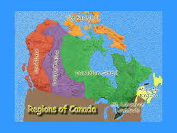 regions of canada map physical regions of canada think about a map of canada how is