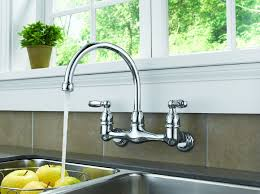 wall mount kitchen faucet single handle kitchen astounding wall mount kitchen faucet with sprayer wall