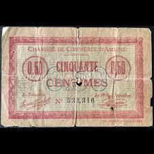 chambre de commerce amiens 1920 50 centimes chambre de commerce d amiens vintage