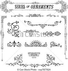eps vector of vector series of vintage ornaments all pieces are