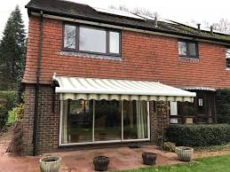 Electric Patio Awning Large Electric Awning Fitted Over Patio Doors In Petersfield