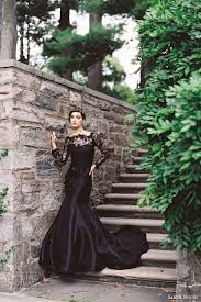 black lace wedding dress with flowers flower dresses dressesss