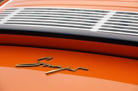 vintage orange porsche singer 911 offers vintage looks modern appointments exotic