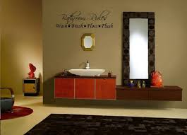 bathroom best ideas for decorating walls bathroom simple wall stickers cream color wide water sink framed mirror perfume