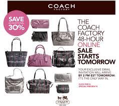 sale alert coach factory sale 70 starts tomorrow skimbaco
