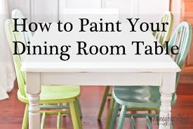 Painted Dining Room Furniture Ideas Painting A Dining Room Table Ideas Gallery Dining