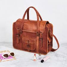 womens travel bags images Women 39 s travel bags in luxurious tan brown or black leather jpg