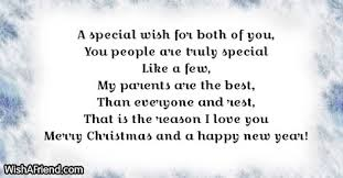 a special wish for both of message for parents