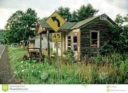 abandoned house and car stock photo image 43730885