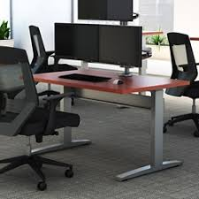 Electric Height Adjustable Computer Desk Standing Height Type Desks At Nbf