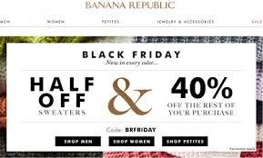 banana republic black friday 50 sweaters 40 the