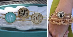 monogramed items gold monogrammed bangle bracelets 9 99 from 22