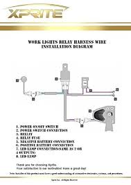 heavy duty led light bar wiring harness with 2 leg 40 amp relay
