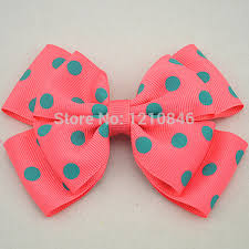 polka dot grosgrain ribbon to wear a perfectly printed ribbon pink bow and ribbon with white