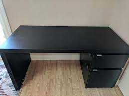 ikea black brown desk black brown desk black brown ikea desk with drawer and storage