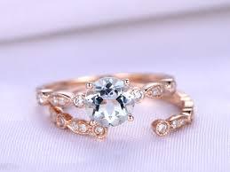 aquamarine ring set 6 5mm round cut aquamarine engagement ring art