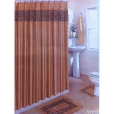 Matching Rug And Curtains 15 Pc Bath Rug Set Animal Print Brown Leopard Fabric Shower