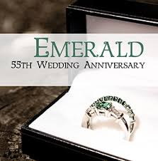 55th wedding anniversary 55th wedding anniversary card emerald funky pigeon