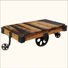 diy rustic wood coffee table on wheels picture decofurnish