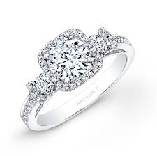 Square Wedding Rings by 14k White Gold Square Halo White Diamond Engagement Ring