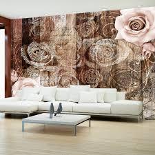 Vintage Holzverkleidung Details Zu Fototapete Blumen Vlies Tapete Rose Wandbild Xxl