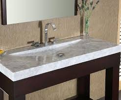 white carrara marble stone bathroom vanity top with integrated