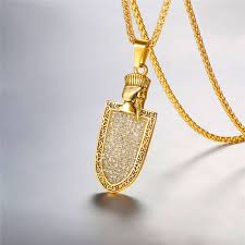 necklace gold man images Faravahar necklace gold color 316l stainless steel black man jpg