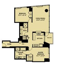 floor plan of the secret annex one rincon hill skybox realty