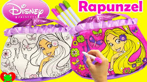 disney princess rapunzel coloring purse activity and surprises
