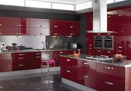 interior kitchen colors a contemporary kitchen design with lots of storage and glossy