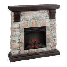 remote control stone fireplace with infrared heat christmas tree