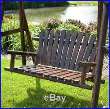 porch swing with stand yard outdoor patio adults a frame wood log