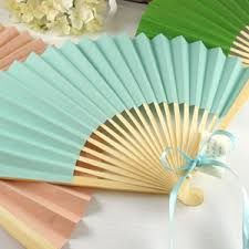 wedding paper fans solid color paper folding fans set of 10 10 50