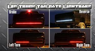 60 inch led light bar 60 inch auto tailgate led light bar strip red and white waterproof