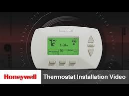 thermostat installation video training honeywell youtube
