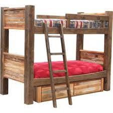 Barnwood Bunk Beds Custom Aspen Bunk Bed With Metal Rustic Bunkbeds