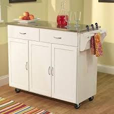 white kitchen island cart mobile kitchen island cart white wood portable drawers stainless