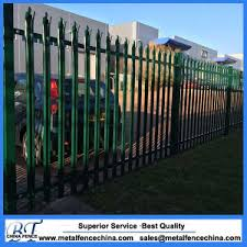 china ornamental security palisade fence steel black pointed top