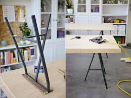 Ikea Standing Desk Legs by Diy Ikea Lerberg Trestle Leg Tables Lejlighed Pinterest