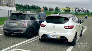 renault monaco mini cooper s works vs renault clio rs monaco gp review on track