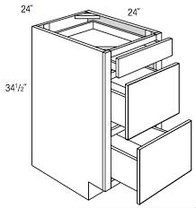 kitchen base cabinet depth db24 branford slab 3 drawer base cabinet