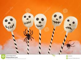 halloween cake pops candy filled halloween bucket stock images image 16324824