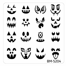 halloween square nail art stamping plates bm s204 the many