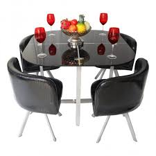 retro kitchen table and chairs set retro black 4 seater dining sets woodys furniture