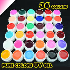 real gdcoco 36 colors uv gel nail tips pure fine shiny cover