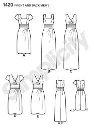 simplicity 1420 misses u0027 dress in two lengths with bodice variations