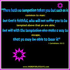 overcoming temptation u201d sunday lesson 1 corinthians 10 12