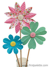 folding paper flowers craft 6 petal flowers crafts