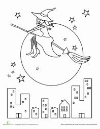 halloween witch worksheet education