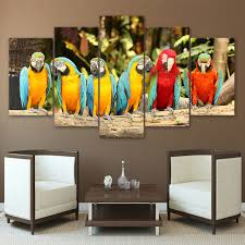 parrot home decor canvas paintings wall art home decor living room hd printed 5